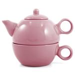 Metropolitan Tea Pink Rose Ceramic Tea For Me Pot