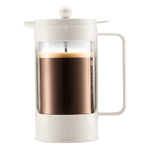 Bodum Bean French Press Coffee Maker in White, 8 Cup