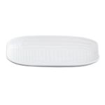 HIC Harold Import Co White Porcelain 9.5 Inch Corn Cob Tray