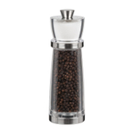 Trudeau Juliana Stainless Steel 7 Inch Combo Pepper Mill with Salt Shaker