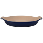 Le Creuset Heritage Indigo Stoneware 1.7 Quart Au Gratin Dish with Provence Applique