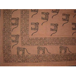 Egyptian Monkeys Black and White 60x84 Oblong Tablecloth