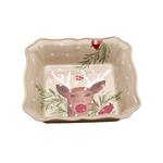 Casafina Deer Friends Linen Stoneware 10-Inch Square Baker