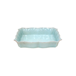 Casafina Blue Stoneware Impressions 11.75 x 8.25 Medium Rectangle Baker