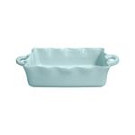 Casafina Rectangular Blue 13.5 x 8.5 Inch Ruffled Baker