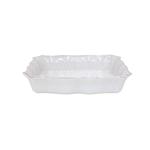 Casafina Impressions White Stoneware  Large Rectangle Baker