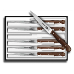 Victorinox Stainless Steel 6 Piece Spear Tip Steak Knife Set with Rosewood Handles
