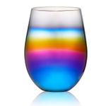 Artland Rainbow 16 Ounce Stemless Wine Glass