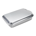 Nordic Ware Naturals Aluminum Rectangular Cake Pan with Metal Lid