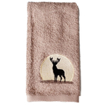 Saturday Night Limited Cotton Silhouette Wildlife Tip Towel, Set of 4
