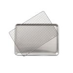 Nordic Ware 2 Piece Half Sheet with Nonstick Grid Set
