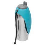 Messy Mutts Stainless Steel and Blue Pet Travel Water Bottle