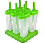 Tovolo Green Groovy Ice Pop Molds, Set of 6