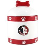 Florida State University Seminoles Ceramic Dog Treat Jar