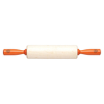 Fletcher's Mill Mario Batali Maple 10 Inch Rolling Pin with Orange Handles