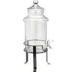 Artland Chelsea Glass Beverage Dispenser on Metal Stand, 1.5 Gallon