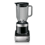 Braun PureMix Stainless Steel and Black 1.75 Quart Countertop Blender and Silicone Blender Spatula