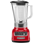KitchenAid KSB1570ER 5-Speed Empire Red Die Cast Metal 56 Ounce Blender and Silicone Blender Spatula