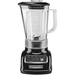 KitchenAid KSB1570OB 5-Speed Onyx Black Die Cast Metal 56 Ounce Blender and Silicone Blender Spatula