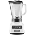 KitchenAid KSB1570WH 5-Speed White Die Cast Metal 56 Ounce Blender and Silicone Blender Spatula