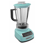 KitchenAid KSB1575AQ Diamond Aqua Sky 5 Speed 60 Ounce Blender and Silicone Blender Spatula