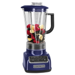 KitchenAid KSB1575BU Diamond Cobalt Blue 5 Speed 60 Ounce Blender and Silicone Blender Spatula