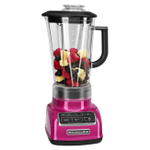 KitchenAid KSB1575RI Diamond Raspberry Ice 5 Speed 60 Ounce Blender and Silicone Blender Spatula