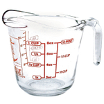 Anchor Hocking Glass Open Handle Measuring Cup, 8 Ounce