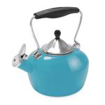 Chantal Sea Blue Enamel-on-Steel 1.8 Quart Catherine Teakettle