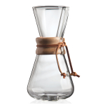 Chemex Classic Glass Coffee Maker with Wood Collar and Tie, 15 Ounce