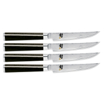 Shun Classic 4 Piece Damascus Stainless Steel Steak Knife Set