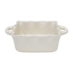 Casafina Cream Square 9.5 x 7 Inch Ruffled Baker
