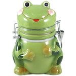 Boston Warehouse Ceramic Frog Hinged Storage Jar