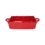 Casafina Rectangular Red 13.5 x 8.5 Inch Ruffled Baker