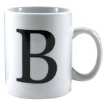 Oneida Porcelain Monogrammed Letter B Mug, Set of 6