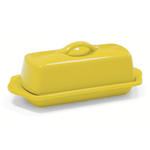 Chantal Canary Yellow Stoneware 8.5 Inch Butter Dish