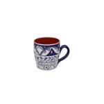 Casafina Alentejo Terracotta Indigo 14 Ounce Mug