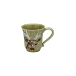 Casafina Deer Friends Green Stoneware Coffee Mug, Set of 4