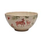 Casafina Deer Friends Stoneware Serving Bowl