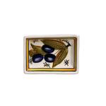 Casafina Alentejo Terracotta Giftware Blue Olive Tiny Rectangular Dish