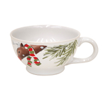 Casafina Deer Friends White Stoneware Jumbo Mug, Set of 4