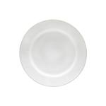 Costa Nova Astoria White Stoneware Dinner Plate, Set of 6