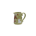 Casafina Deer Friends Green and White Stoneware Pitcher, Set of 2
