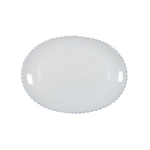 Casafina Costa Nova Pearl White Stoneware Oval Platter, Set of 3