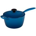 Le Creuset Signature Marseille Blue Enameled Cast Iron Covered 2.25 Quart Saucepan