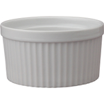 HIC Harold Import Co White Porcelain 14 Ounce Souffle Dish