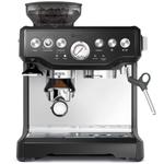Breville The Barista Express Black Sesame Espresso Machine with Espresso Glasses