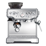 Breville The Barista Express Stainless Steel Espresso Machine with Espresso Glasses