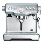 Breville The Dual Boiler Stainless Steel Descalable Espresso Machine with Espresso Glasses