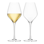 Final Touch DuraShield Lead-Free Crystal White Wine Glass, Set of 2